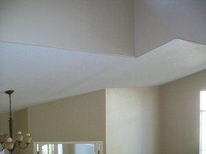 Wrapping the color around the corner on a bull-nose ceiling line